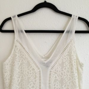 Abercrombie & Fitch Dresses - Abercrombie Lace V Neck Dress White Size Small